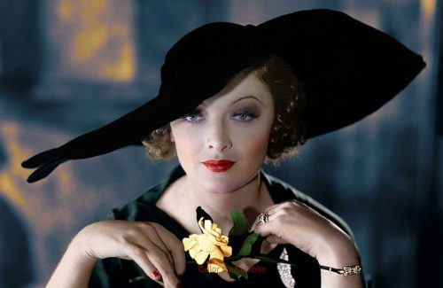 1930s Hollywood women in color