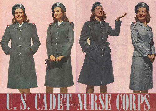 WW2 Nurse Uniform- Cadet-Nurse-Corp-Winter-and-Summer
