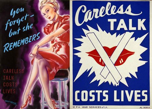 Careless-Talk- Sexists WW2-posters