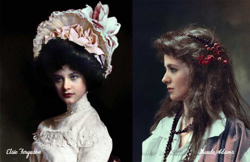 Edwardian girls in color