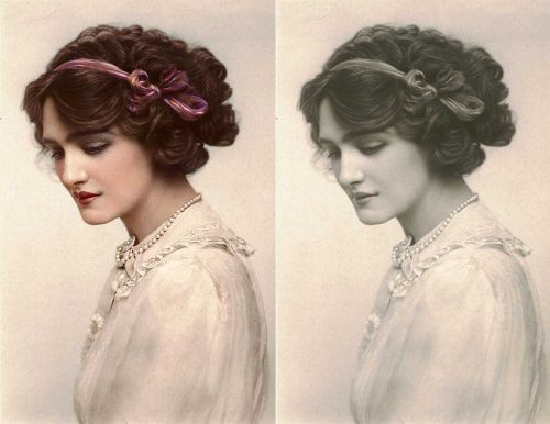 Edwardian lady in color - Lily Elsie