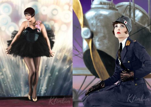 Louise Brooks and Clara Bow in Color