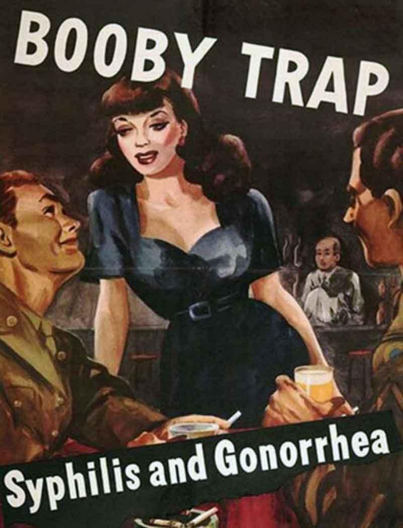 Careless-Talk- Sexist WW2 poster