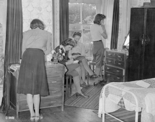Womens Land Army Girls in their lodgings in Torquay England