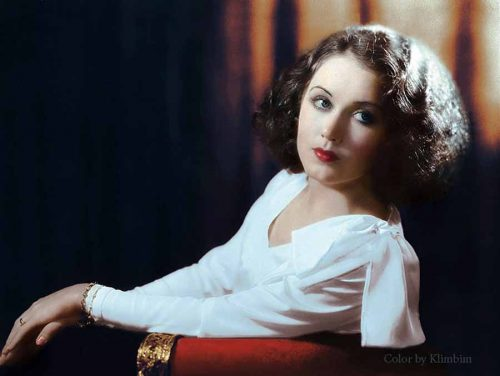 1930s Hollywood women in color - Fay Wray