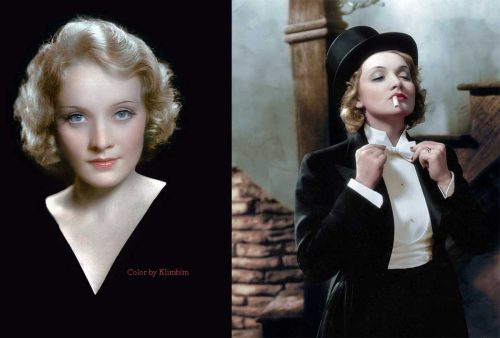 1930s Hollywood women in color - Marlene Dietrich