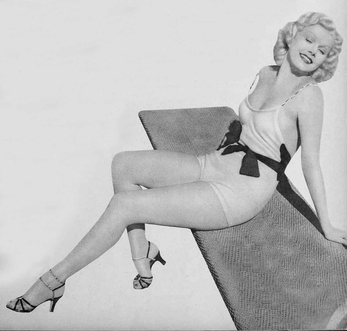 Swimsuit Fashions of 1934 - Jean-Harlow