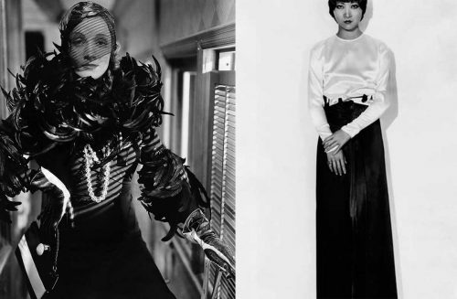 Marlene Dietrich and Anna May Wong in costumes by Travis Banton