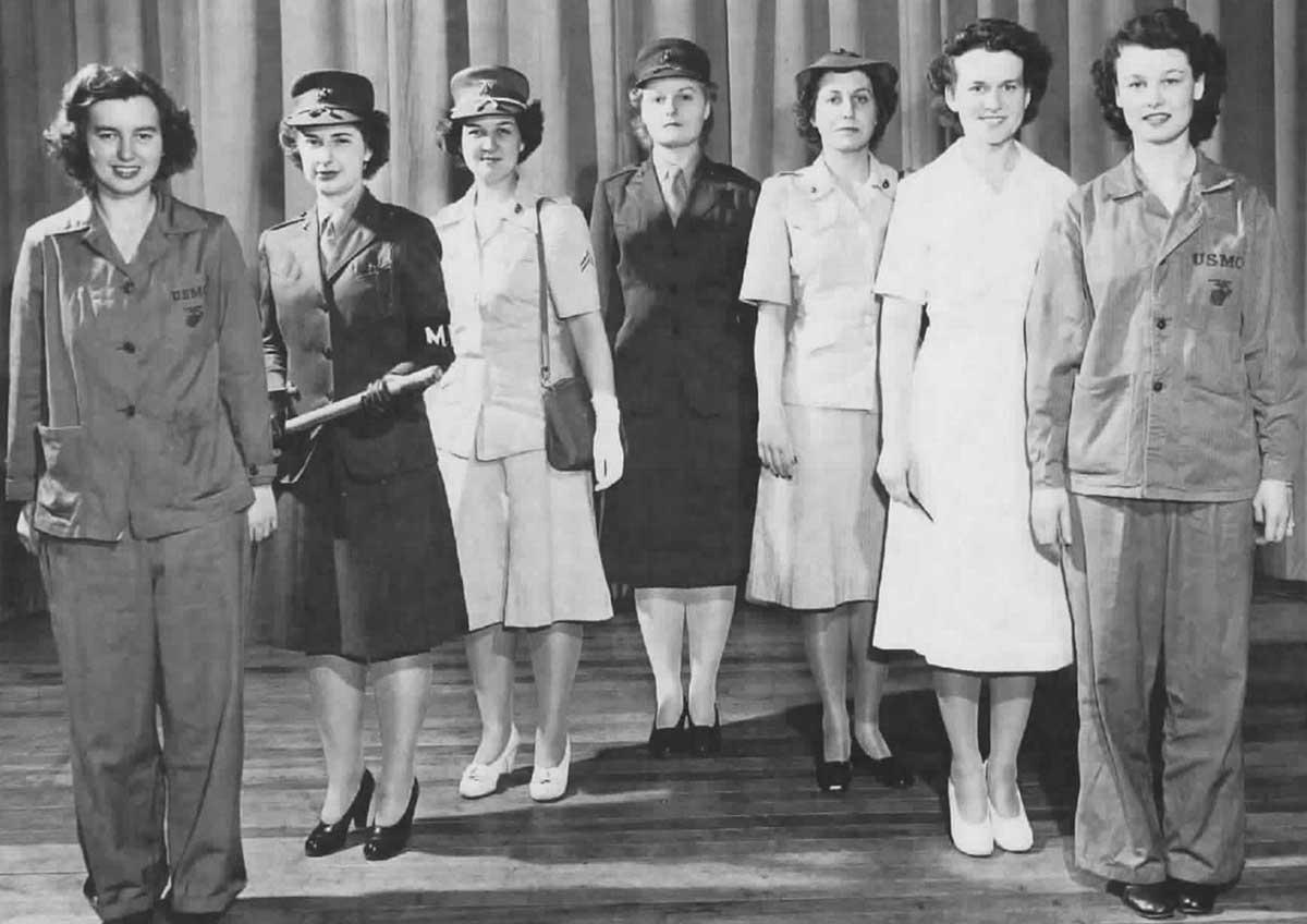 1940s Military Fashion - The Marine Corps   Glamour Daze