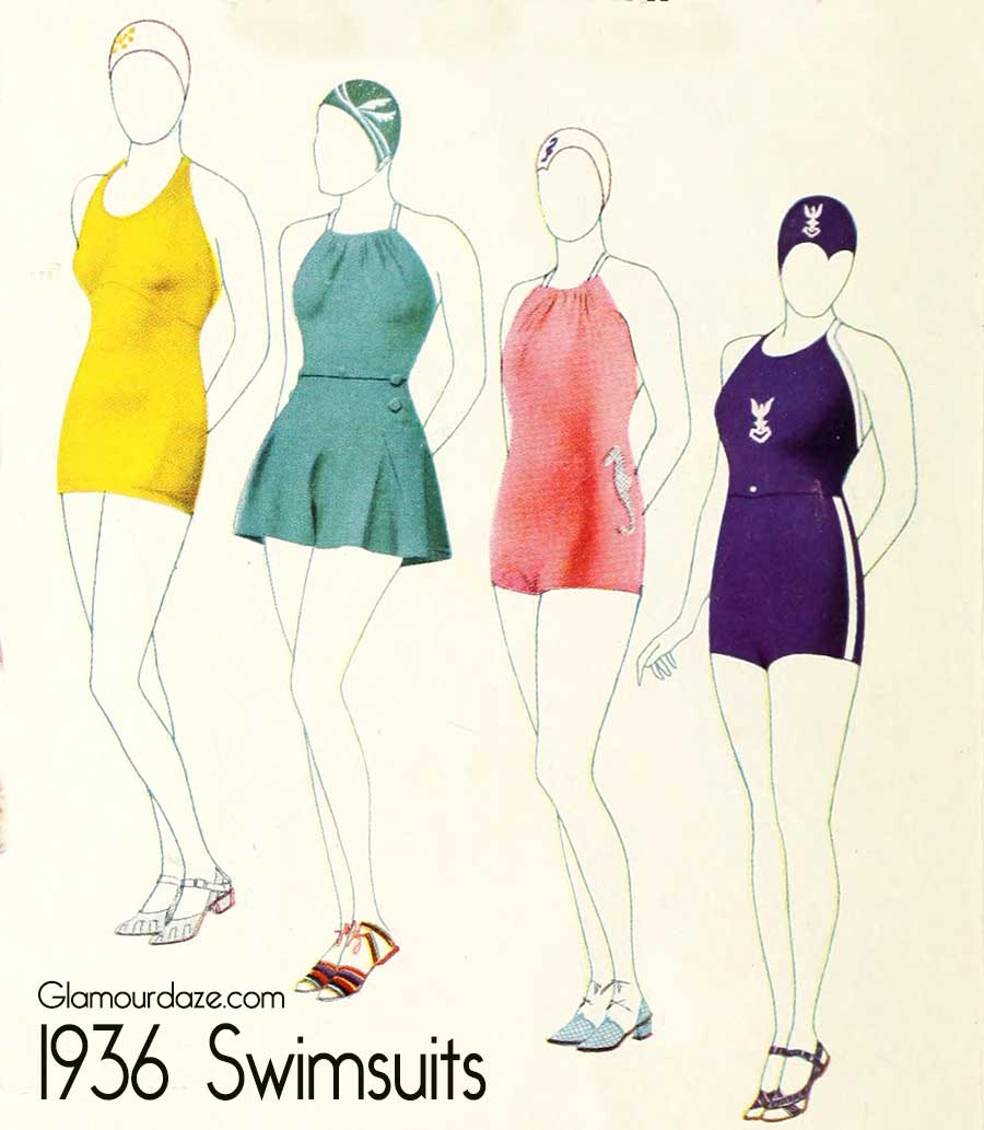 4594f7e8ab6a0 Vintage 1930s Swimsuit Fashions from 1936