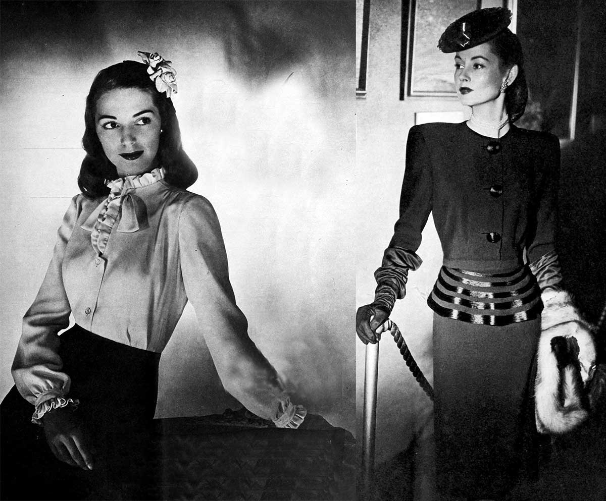 1940s-Fashion---Fall-Dresses-in-1944