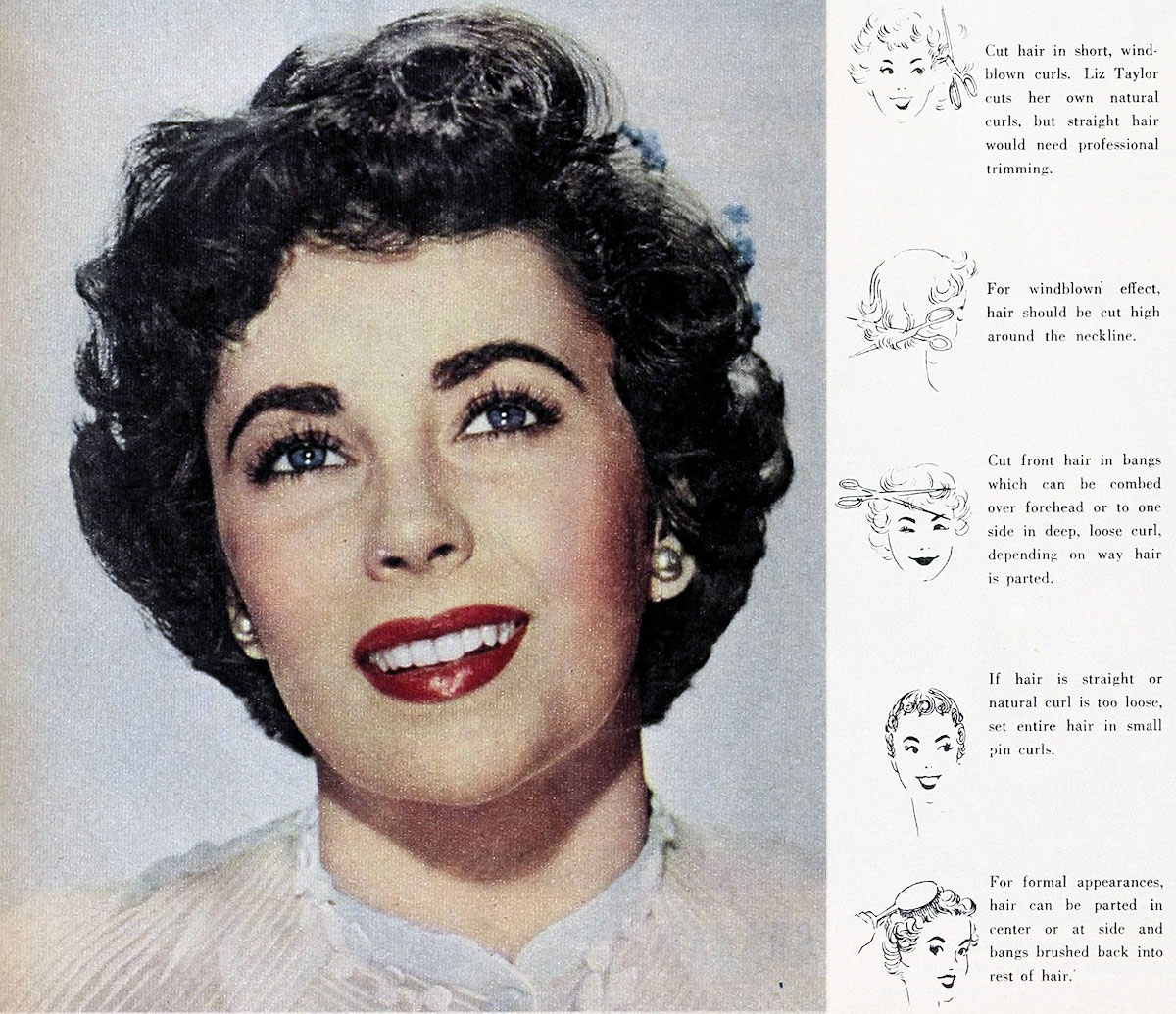 1950s Windblown Bob Hairstyle