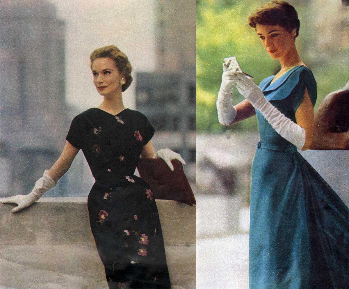 1950s-Fashion----Slender-Fall-Dresses-1953