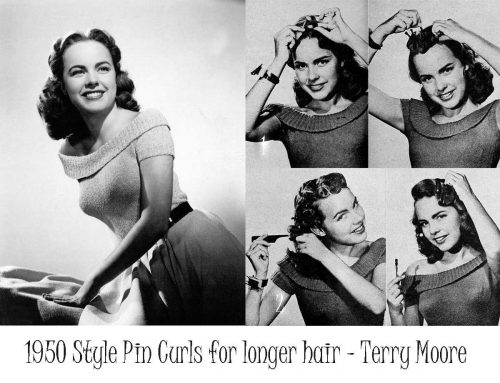1950 Style Pin Curls for longer hair - Terry Moore