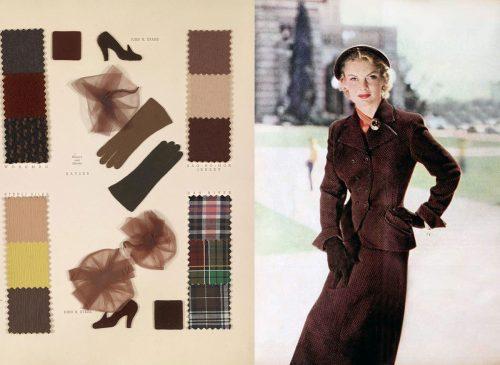 Fall Dresses in 1950 - Brown Tones