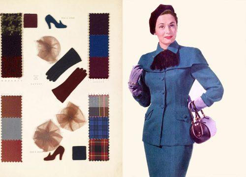 Fall Dresses in 1950 - Plum Tones