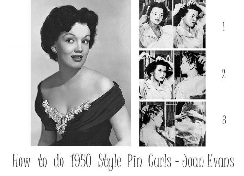 How to do 1950 Style Pin Curls - Joan Evans