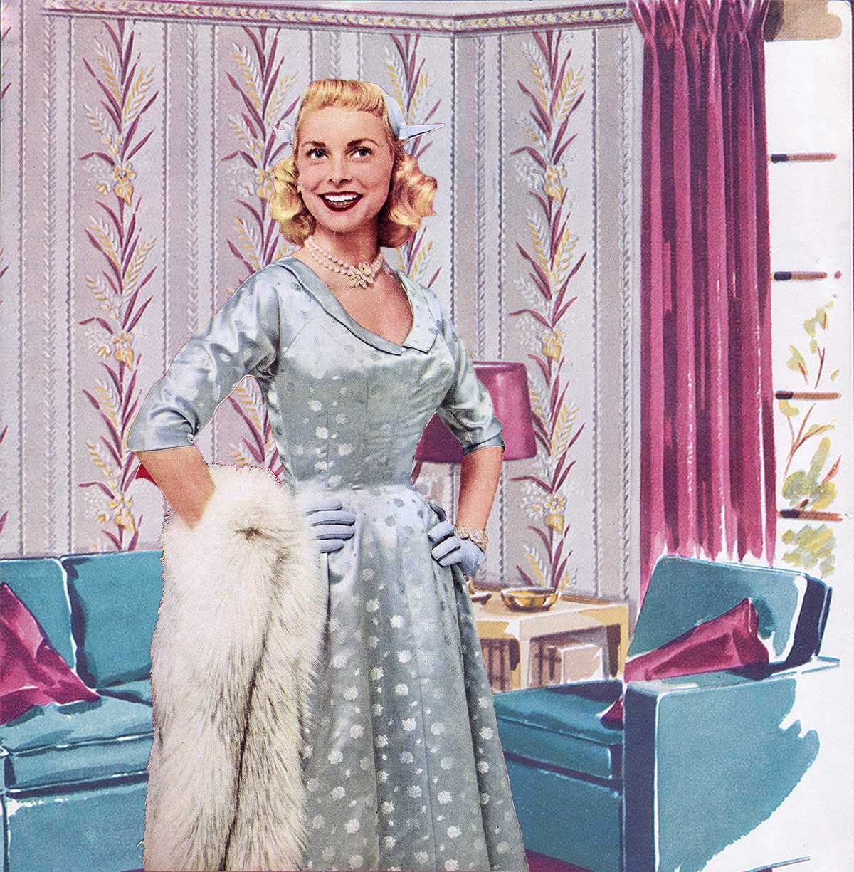 Janet Leigh -Winter Dresses 1954