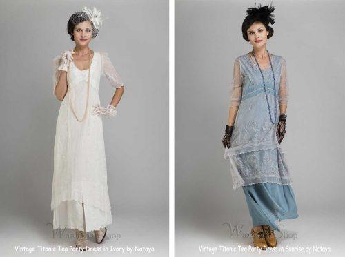 Vintage Titanic Style Bridesmaid Dresses