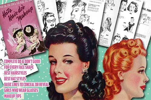 1940s hair tutorial book