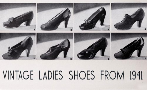 stylish 1940's women's shoes