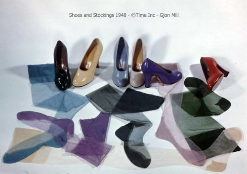 Shoes and Stockings 1948 for the new silhouette