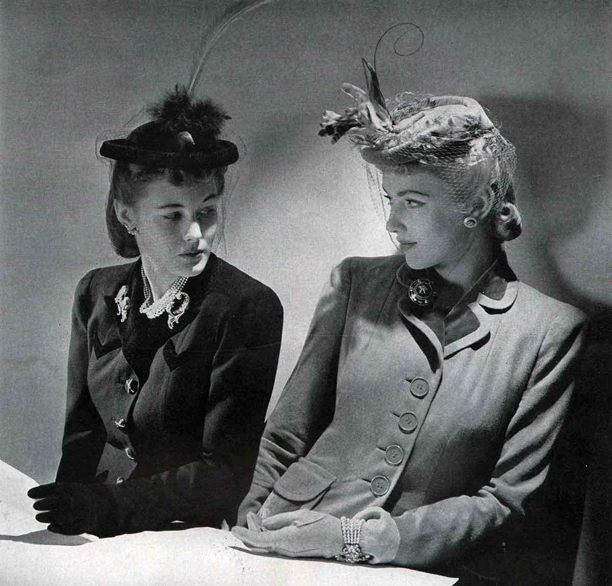 Winter Hats 1940 in Vogue