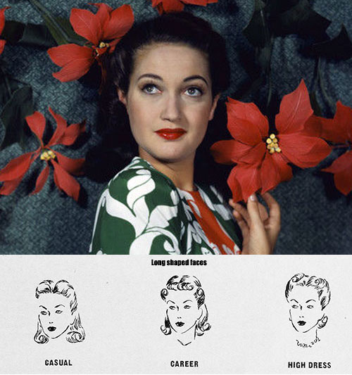 Hairstyle for face shape -Long-Faces---Dorothy-Lamour
