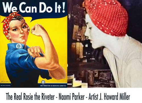 The inspiration for Rosie the Riveter poster Naomi-Parker