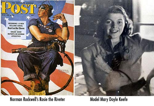 Rosie-the-riveter-model---Mary-Doyle-Keefe---norman-rockwell-1943