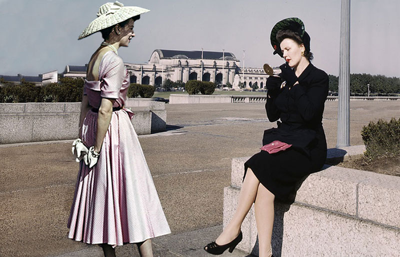 1940s fashion - 1940 to 1949