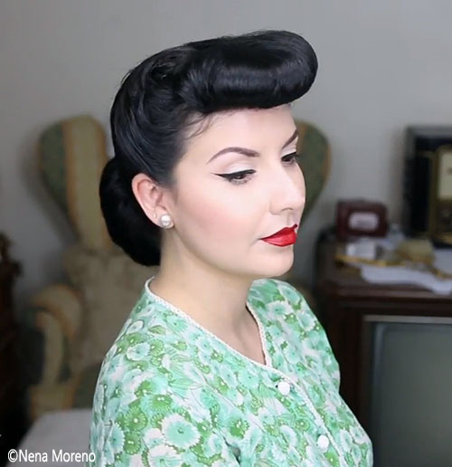 Hair Bangs , Vintage 1940\u0027s Hairstyle Tutorials