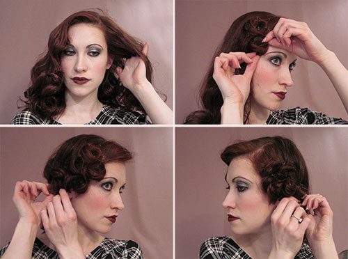 1920's Hairstyles For Long Hair - Faux Bob