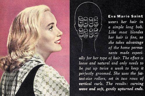 Eva Marie Saint - Hollywood hair -1960