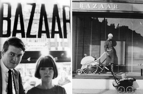 Mary-Quant-and-Alexander-Plunket-Greene-in-Bazaar-boutique-1958
