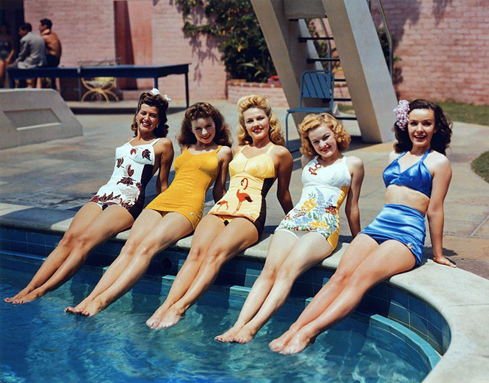 Beautiful 1940's Swimsuit Legs of Hollywood