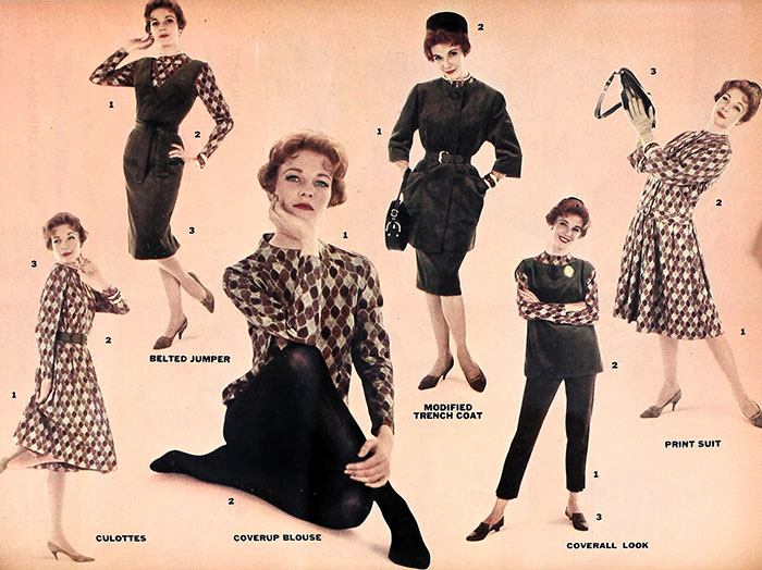 Six Fall Fashion Looks of 1960