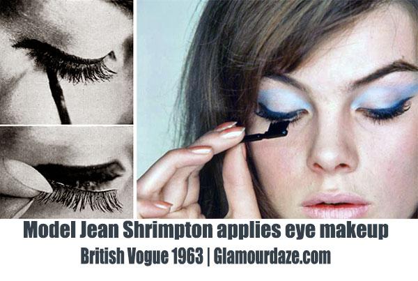 60s-eye-makeup---Jean-Shrimpton-1963-British-Vogue