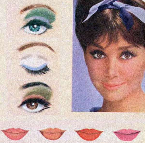 60's makeup - eyes and lips