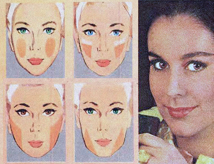 60's makeup look - foundation