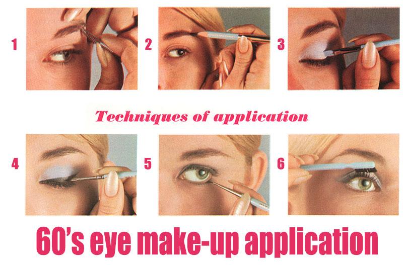 60's Eye Makeup Tutorial - Step by Step