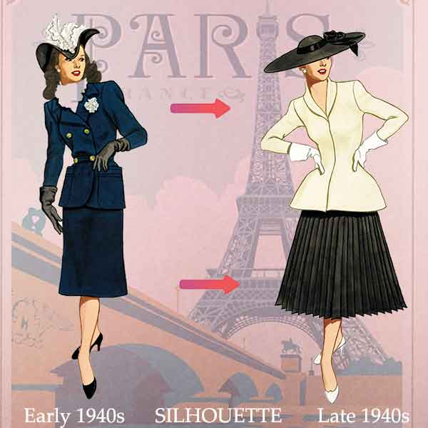 1940's clothing - What women wore