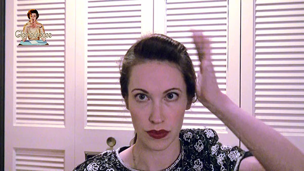1940's hair snood tutorial - front roll
