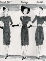 Skirt types - 1940's fashion