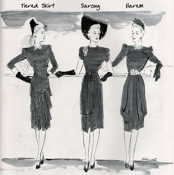 Skirt types - Tiered, sarong and Harem