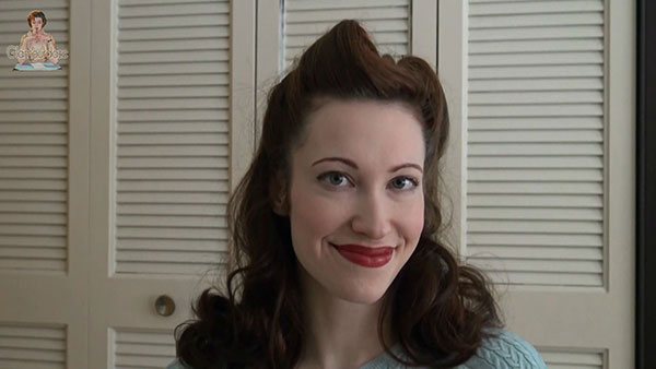 How to do easy Victory Rolls - Tia Semer