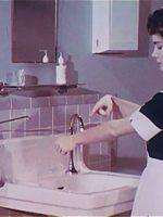 hand washing - vintage nurses