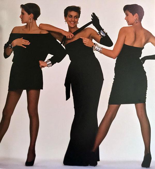 1980's little black dresses - Calvin Klein,Oscar de la Renta and Jackie Rogers