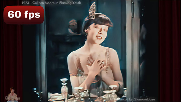 Flapper Makeup Routine - Colleen Moore in Flaming Youth 1923.