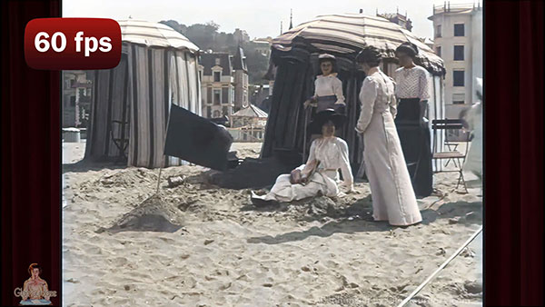 a day at the beach c.1899